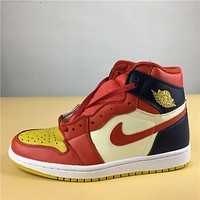 "Air Jordan 1 ""red yellow "" 40-47"