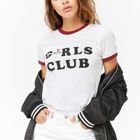 Girls Club Graphic Ringer Tee