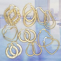 30 Medium Gold Filled Hoops Bundle Kit ($3.00 ea) Assorted Mixed Styles
