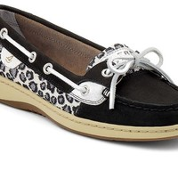 Sperry Sperry Top-Sider Women's Angelfish Boat Shoe, Black Nubuck/Sparkle-8 M (B)