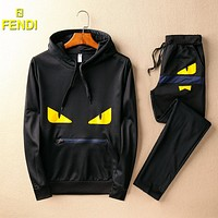 Boys & Men Fendi Top Sweater Pullover Pants Trousers Set Two-Piece Sportswear