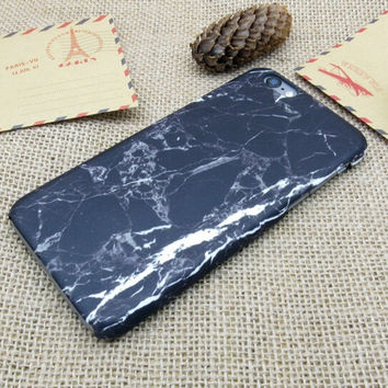 Black Marble iPhone 5se 5s 6 6s Plus Case Cover Gift