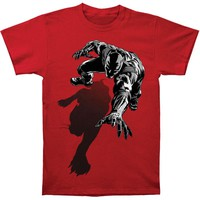 Black Panther Men's  Shadow Slim Fit T-shirt Red