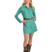 Cowgirl Justice Renegade Turquoise Western Dress - Sheplers