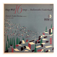 "Erik Nitsche record album design, 1952. ""Hugo Wolf: 16 Songs from the Italienisches Liederbuch"" LP"