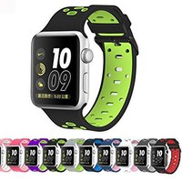 Pantheon Apple Watch Silicone Replacement Band, Sport Edition Strap, 30 variants, 38mm (S/M) and 42mm (M/L) for Apple Watch 1, 2, 3 and Nike edition