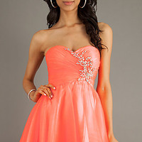 Strapless Ruched Bodice Party Dress by Alyce Paris
