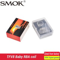 100% Original Smok TFV8 Baby RBA coil and V8 RBA exclusive glass tube & sealing rings Fit for TFV8 Baby Tank