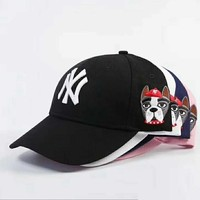 MLB New York Yankees Women and Men Embroidery Sports Sun Hat Baseball Cap Hat 004