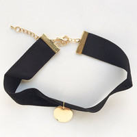 Golden Era Velvet Choker