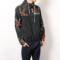 Spring Casual Mens Jacket M~XL Japan style Vintage Floral stitching Hooded Zipper youth male Coat A134