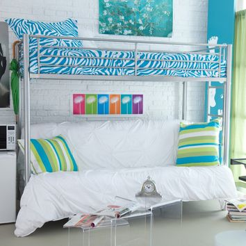 Duro Wesley Twin over Futon Bunk Bed - Silver