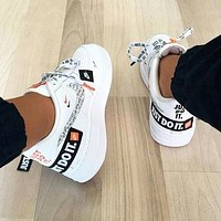 Nike Air Force 1 Just Do It Fashionable Women Men Casual Running Sport Shoes Sneakers