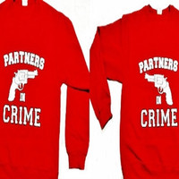 Disney Matching Couples Sweaters Partners in Crime Two Crew-Necks for 49.99 Add LastName or Date for a perfect love gift