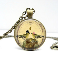 Bird Couple Charm Necklace