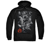 SONS OF ANARCHY GROUP FIGHT Adult Fleece Pull Over Hoodie