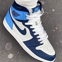 Nike Air Jordan 1 Retro High Obsidian Basketball Shoes Sneakers