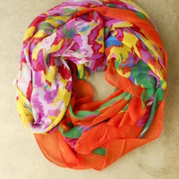 Artists Rainbow Palette Scarf [2471] - $21.00 : Vintage Inspired Clothing & Affordable Fall Frocks, deloom | Modern. Vintage. Crafted.