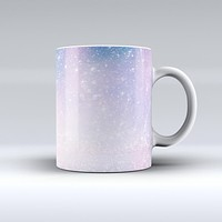 The Pink and Blue Grungy Abstract ink-Fuzed Ceramic Coffee Mug