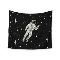 "Kess Original ""Space Adventurer"" Black Fantasy Wall Tapestry"