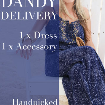 Surprise Dandy Delivery - Dress & Accessory Combo