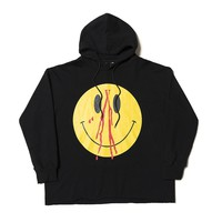 2018FW Autumn Vlone Smile Face Printed Women Men Hoodies Sweatshirts Hiphop Brand Vlone Men Cotton Hooded Hoodies Pullover