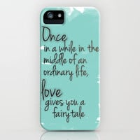 Love gives you a fairytale iPhone Case by Michelle | Society6