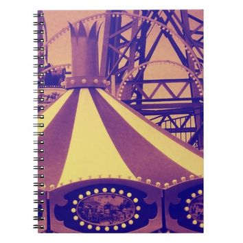 Carnival Dreams altered photo notebook