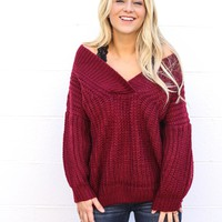 Chunky Off Shoulder Sweater
