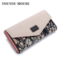 Youyou Mouse Floral Pu Wallet For Women Ww00197