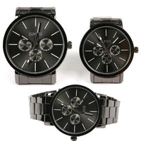 Fashion Tungsten Steel Color Quartz Men's Women's Couple Lover Wrist Watch = 1956983428