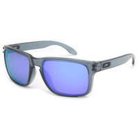 Oakley Holbrook Sunglasses Crystal Black/Violet Iridium One Size For Men 23234614901