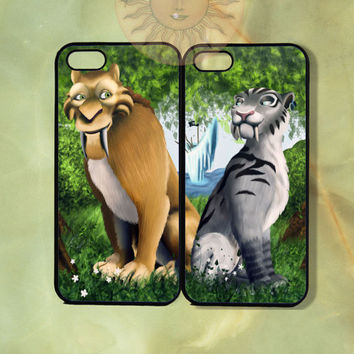 Custom Diago and Shira Couple Case Ice Age-iPhone 5, iphone 4s, iphone 4, ipod touch Samsung GS3 GS4-Silicone or Hard Plastic Case, cover