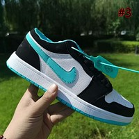 Air Jordan 1 low cut men and women breathable all-match sneakers shoes