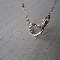 Love, rose gold necklace, lock our love, special necklace, best gift, to the best of her