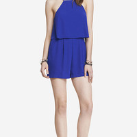 DOUBLE LAYER CAMI ROMPER - BLUE from EXPRESS