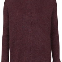 Mohair Blend Sweater - Berry Red
