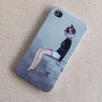 beauty cat iphone 4 case, iphone 4 covers sleeve, iphone 4s unique pattern cases covers