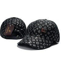 Louis Vuitton LV Woman Men Fashion Print Sport Baseball Hat Cap