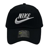 NIKE New fashion embroidery letter hook couple cap hat Black