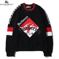 BURBERRY Fashion Men Warm Pullover Knitwear Matching Sweater Black