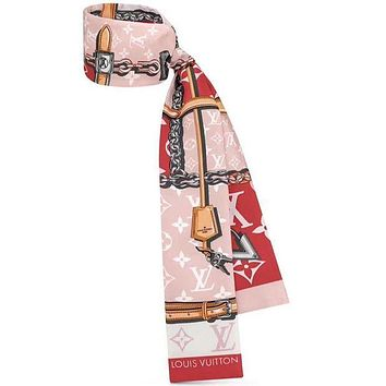LV Louis Vuitton Classic Old Flower Pattern Women's Headband Scarf