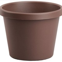 Akro-mils LIA08000E21 Chocolate Brown Flower Planter / Size (8 in)