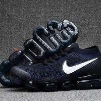 Nike Men's Air Vapormax Flyknit 2018 Navy/White Basketball Sneaker