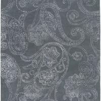 Modern Classics Floral and Paisley Area Rug Gray, Neutral