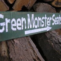Red Sox Boston Green Monster Seats Sign