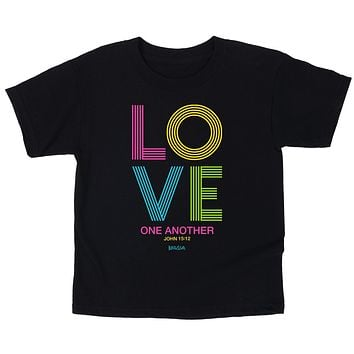 Cherished Girl Love Stripes Christian Toddler Youth Bright T-Shirt
