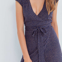 Kimchi Blue Shea Printed Wrap Jumpsuit   Urban Outfitters