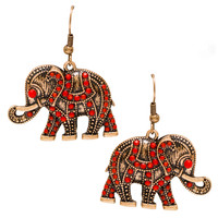 Just Because Elephant Earrings - One SIze / Multi