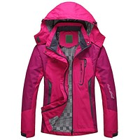 Women Waterproof Hooded Winter Jacket